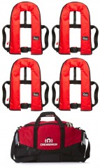 Set of Four Bluewave Red 150N Automatic Lifejackets plus storage bag! - £219.95!