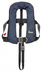 Bluewave Kids Navy Automatic 150N Gas Lifejacket with harness - British Made!
