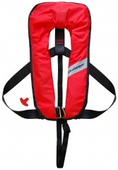 Challenger Worksafe 275N Red Automatic Lifejacket - one size to XXL - British Made!