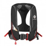 Crewsaver Crewfit 180N Pro Automatic Harness Black/ Red Lifejacket - with sprayhood and light!