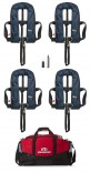 Set of Four Navy 150N Auto harness lifejackets, with holdall and service kit! - £259.95!