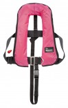 Bluewave Girls Automatic 150N Lifejacket - pink with surf flowers design!